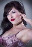 Sexy brunette beautiful woman Stock Photos