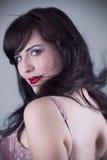 Sexy brunette beautiful woman Stock Image