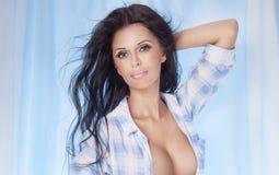Sexy brunette beauty posing. Stock Image