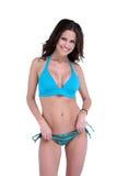Sexy brunette bikini model Royalty Free Stock Photos