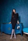 Sexy brunette businesswoman beautiful woman wear stylish Stock Photography