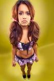 Sexy brunette girl Stock Image
