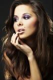 brunette girl - portrait stock images