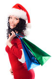 brunette girl with shopping bags Stock Photo
