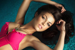 Sexy brunette lady posing Stock Photography