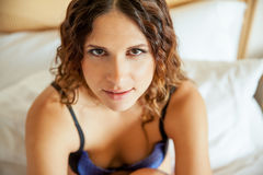 Sexy brunette in lingerie Royalty Free Stock Photo