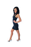 Sexy brunette in a little black dress Stock Photography