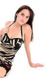 Sexy brunette in nightie Royalty Free Stock Photography