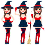 Sexy Brunette Witch Stock Photos