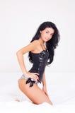 Sexy brunette woman Stock Photos