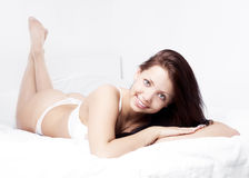 Sexy brunette woman Stock Images