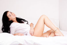 Sexy brunette woman Royalty Free Stock Images