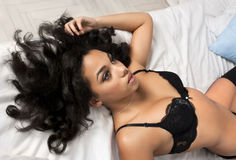 Sexy brunette woman Royalty Free Stock Photos