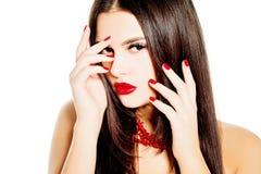 Sexy Brunette Woman. Fashion Beauty Royalty Free Stock Photos