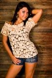 Sexy brunette woman fashion model Royalty Free Stock Image