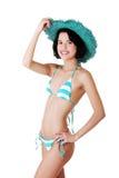 brunette woman posing in bikini Stock Image