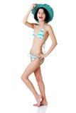 brunette woman posing in bikini Stock Photography