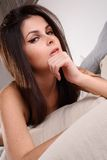 Sexy brunette young woman Royalty Free Stock Images