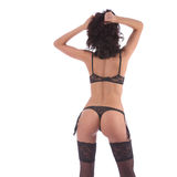 Sexy burlesque dancer woman stripper showgirl in studio isolated Royalty Free Stock Photo