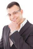 business man smiling royalty free stock image