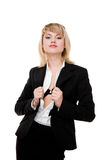 Business woman. Studio shot royalty free stock image