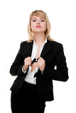Business woman. Studio shot royalty free stock photography