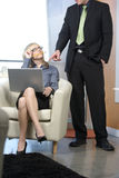 Business woman. A business woman takes notes for her boss royalty free stock photo