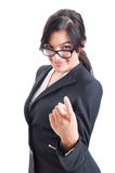 Sexy business woman calling gesture using finger Stock Photography
