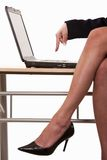 Sexy business woman legs wearing heels Stock Image