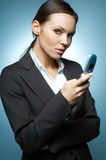 Sexy Business Woman MG. Stock Photo