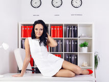 Sexy Business Woman Royalty Free Stock Photos