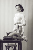Pin up girl secretary Stock Images