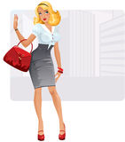 businesslady stock illustration