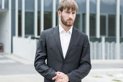 Sexy businessman in suit Stock Photography