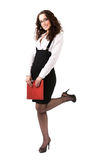 businesswoman with document case Royalty Free Stock Photo