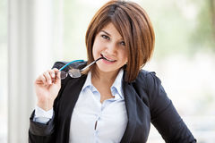 businesswoman with glasses Royalty Free Stock Image