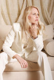 Sexy businesswoman in pants suit Royalty Free Stock Photo