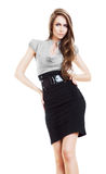 Sexy businesswoman in skirt Royalty Free Stock Photos