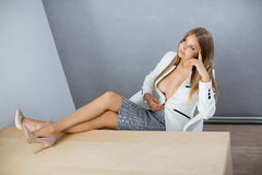 businesswoman on working place Royalty Free Stock Photos
