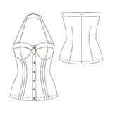 Sexy Bustier Illustration Royalty Free Stock Photos