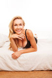 Sexy busty blonde woman Royalty Free Stock Image