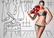 Free Sexy Butcher. Royalty Free Stock Photography - 50858407