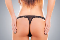 Sexy butt girl in underwear Stock Photography