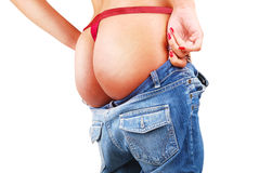 Sexy buttocks in jeans Royalty Free Stock Photo