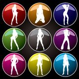 buttons coloured Stock Photography