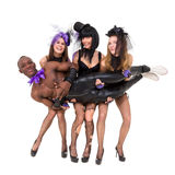 Sexy cabaret dancers posing Stock Image