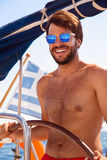Sexy captain of sailboat Royalty Free Stock Photography