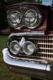 Sexy car. Old vintage car grill Royalty Free Stock Photography