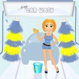 Sexy car wash Royalty Free Stock Photos