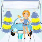 Sexy car wash Stock Photography